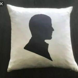 """West Elm Silouhette Face Silk Pillow 16"""" Cover"""